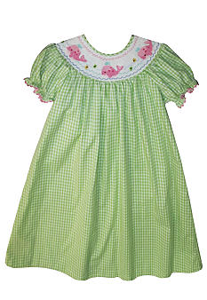 Marmellata Whale Smocked Dress Toddler Girls