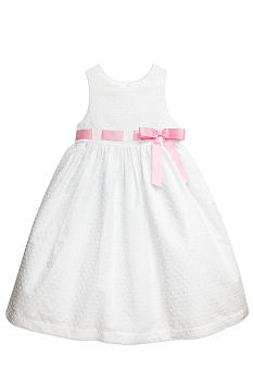 Marmellata Swiss Dot Ribbon Dress Toddler Girls