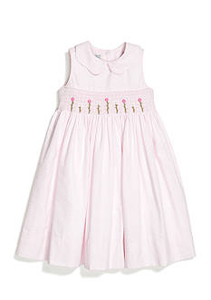 Marmellata Seersucker Smock Dress Girls 4-6x
