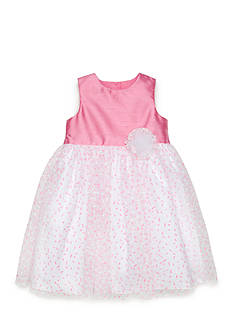 Marmellata Shantung to Confetti Tulle Dress Toddler Girls