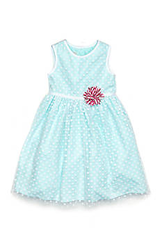 Marmellata Polka Dot Overlay Dress Toddler Girls