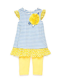 Marmellata 2-Piece Stripe Tunic and Capri Set Toddler Girls