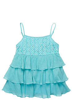 Lucky Brand Crochet Tiered Tank Toddler Girls