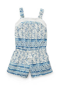 Lucky Brand Kathleen Printed Romper Toddler Girls