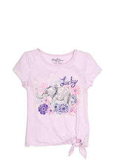 Lucky Brand Elephant Side Tie Top Toddler Girls