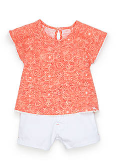 Lucky Brand 2-Piece Floral Tee and Shorts Set Toddler Girls