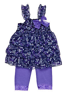 Little Lass Floral Tiered Legging Set