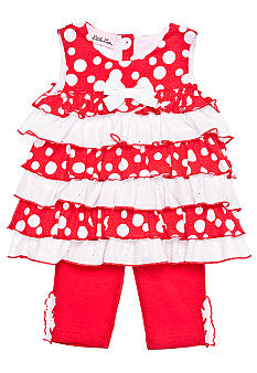 Little Lass Tiered Polka Dot Legging Set