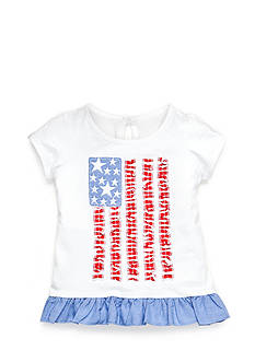 Nursery Rhyme Play™ Ruffle Hem Flag Tee