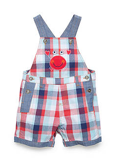 Nursery Rhyme Play™ Plaid Crab Shortalls