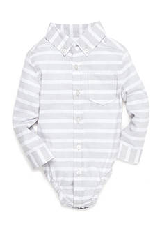 Nursery Rhyme Gray Stripe Button Shirt