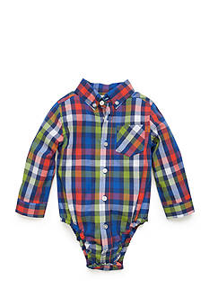 Nursery Rhyme Plaid Button Down Shirt Baby/Infant Boy