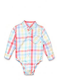 Nursery Rhyme Play™ Long Sleeve Plaid Bodysuit