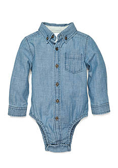 Nursery Rhyme Play™ Long Sleeve Chambray Bodysuit