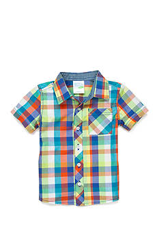 Nursery Rhyme Play™ Short Sleeve Plaid Shirt