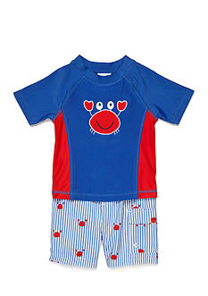 Nursery Rhyme 2-Piece Novelty Rashguard and Swimtrunk Set