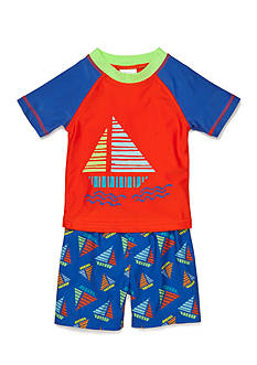 Nursery Rhyme Play™ 2-Piece Novelty Rashguard and Swimtrunk Set
