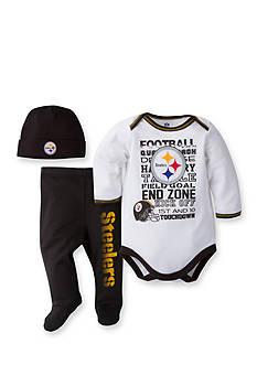 Lamaze NFL Pittsburgh Steelers 3-Piece Bodysuit, Pants, and Cap Set