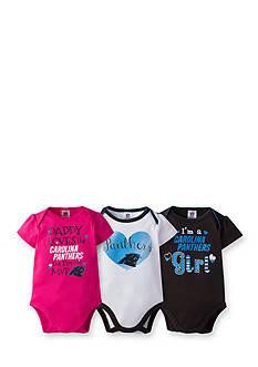 Lamaze Girls NFL Carolina Panthers 3-Pack Bodysuit Set