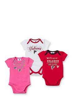 NFL Atlanta Falcons 3-Pack Bodysuit Set