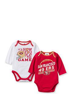 NFL San Francisco 49ers 2-Pack Long Sleeve Bodysuits Set