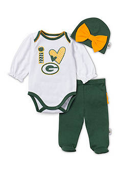 NFL Green Bay Packers 3-Piece Bodysuit Set