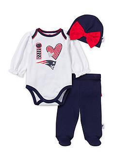 NFL New England Patriots 3-Piece Bodysuit Set