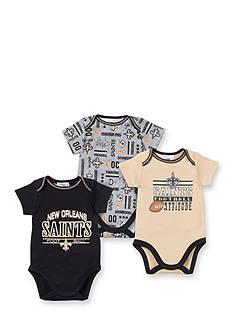 NFL New Orleans Saints 3-Pack Bodysuits Set