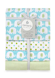 Carter's 4-Pack Elephant Print Receiving Blankets