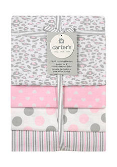 Carter's 4 Pack Multi-Print Flannel Receiving Blankets