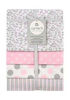 Carter's 4 Pack Multi-Print Flannel Receiving Blankets