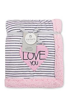 Carter's Plush Striped Heart Blanket