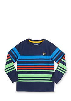 Chaps Boys 4-7 Long Sleeve Striped Tee