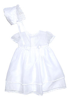 The Children's Hour Satin Trim Christening Gown