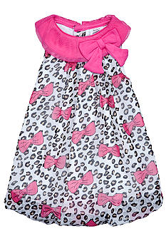Baby Essentials Cheetah Bow Bubble Romper