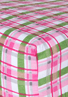Trend Lab Pink Plaid Flannel Fitted Crib Sheet