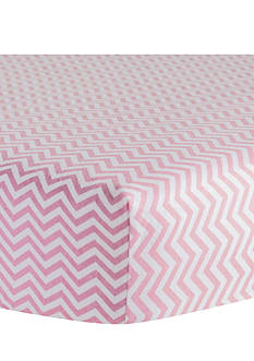 Trend Lab Pink Chevron Flannel Fitted Crib Sheet - Online Only
