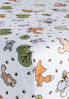 Trend Lab Forest Animals Flannel Fitted Crib Sheet - Online Only