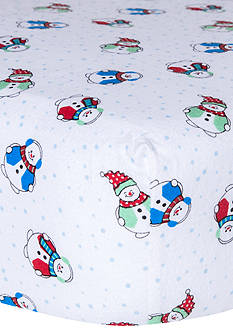 Trend Lab Snowmen Deluxe Flannel Fitted Crib Sheet
