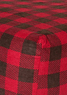 Trend Lab Red and Brown Buffalo Check Flannel Fitted Crib Sheet