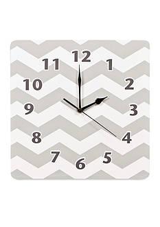 Trend Lab Dove Gray Chevron Wall Clock