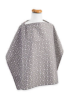 Trend Lab Gray Greek Key Nursing Cover