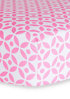 Trend Lab Lily Lattice Fitted Crib Sheet