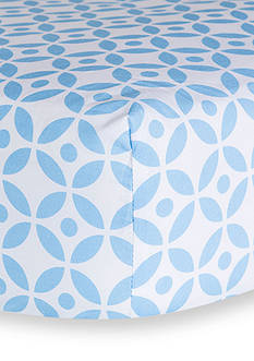 Trend Lab Logan Lattice Fitted Crib Sheet