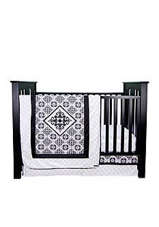 Trend Lab Versailles Black and White 3 Piece Crib Bedding Set