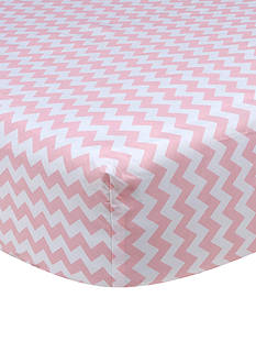 Trend Lab Pink Sky Chevron Crib Sheet
