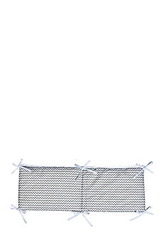Trend Lab Dove Gray Chevron Crib Bumpers