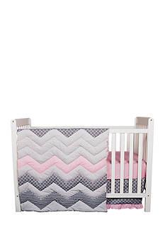 Trend Lab Cotton Candy Chevron 3 Piece Crib Bedding Set