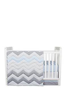 Trend Lab Blue Taffy Chevron 3 Piece Crib Bedding Set