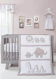 Trend Lab Safari Chevron Three-Piece Crib Bedding Set
